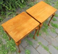 Pair Small Walnut Lamp Tables